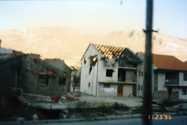 Destroyed homes in Mostar area